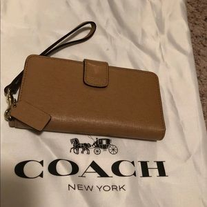 Coach Saffiano Leather iPhone wristlet